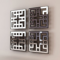 akari mirrored fretwork panels 3d model