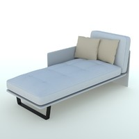 bed designer sofa 3d model