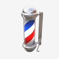 3d barber pole model