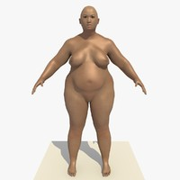 3d model of realistically asian woman rigged