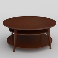 archviz circular table unwrapped 3d model