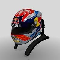 3d obj toro verstappen 2015 helmet