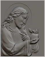 3d relief sculpture jesus christ model