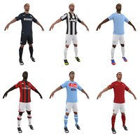 3d soccer players model
