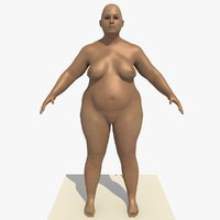 3d model realistically european woman rigged