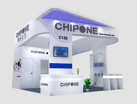 exhibition booth design 3d model