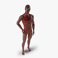 3d rigged male android model