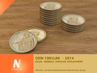 3ds max 1 dollar coin