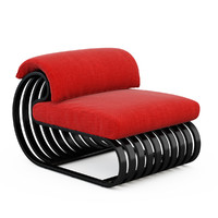 contour lounge chair 3d model
