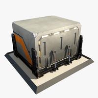 3d futuristic sci fi container