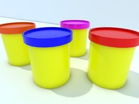 plastic pots 3d 3ds