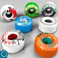 obj skateboard wheel
