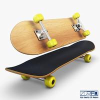 3d model skateboard v 2