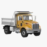 348 dump truck 3d model