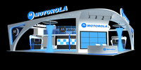 3d exhibition booth design model