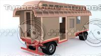 blend german schindelwagen oberlichtwagen caravan