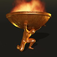 bronze statue 3d 3ds
