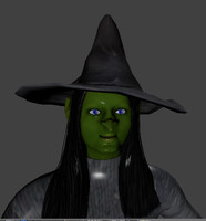 3ds scary rigged witch