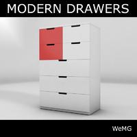 3d modern drawers