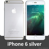 apple iphone 6 silver 3d c4d