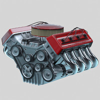 3d model car engine -