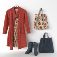 clothing set and handbag
