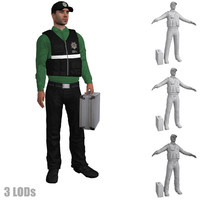 3d model rigged csi agent s