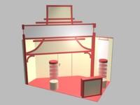 layout exhibition stand obj