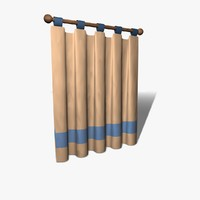 cartoon curtain pelmet 3d model