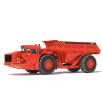3d sandvik underground mining truck