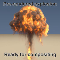 pre-rendered explosion render 3d blend