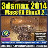 3dsmax 2014 Mass Fx PhysX v.40 Italiano cd front