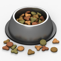 pet food bowl 3d model