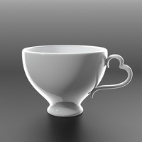 3d elegant coffee cup model