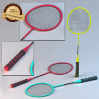 3ds racquet modeled