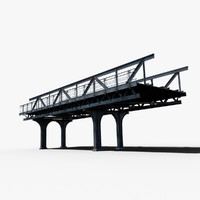 3d resolution train railway bridge model