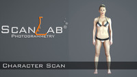 vendella female body scan 3d model