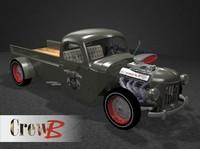 3d model hot road