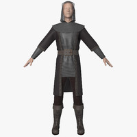 3d model of clothes character animation