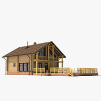 wooden house 3ds