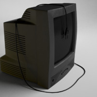 old tube television 3d model