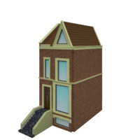 House cottage low poly