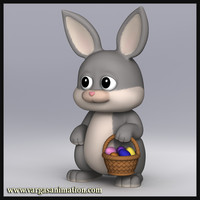 3d model res cute cartoon bunny