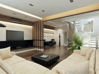 3d model interior apartment modern