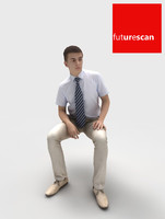 3d model man businessman sitting