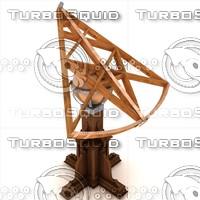 3d model brahe s sextant