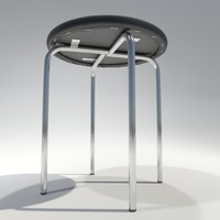 3d model stool office bar