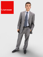 3d human businessman model