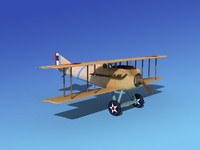 spad vii s fighter aircraft 3d max