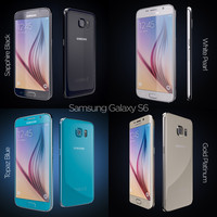 3d model flagship samsung galaxy s6
